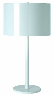 Bt7102-W Trend Lighting 1 Light Pure Table Lamp In Pure White (DISCONTINUED PRODUCT)