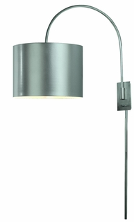 Bw7105-S Trend Lighting 1 Light Pure Small Arc Wall Lamp In Metallic Silver (DISCONTINUED PRODUCT)