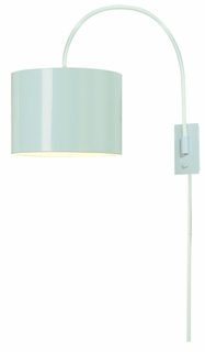 Bw7105-W Trend Lighting 1 Light Pure Small Arc Wall Lamp In Pure White (DISCONTINUED PRODUCT)