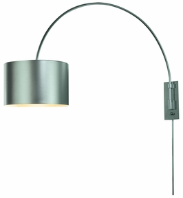 Bw7107-S Trend Lighting 1 Light Pure Large Arc Wall Lamp In Metallic Silver (DISCONTINUED PRODUCT)