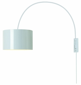 Bw7107-W Trend Lighting 1 Light Pure Large Arc Wall Lamp In Pure White (DISCONTINUED PRODUCT)