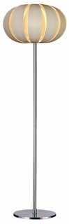 Tf3977-W Trend Lighting 1 Light Pique Floor Lamp In Brushed Nickel (DISCONTINUED PRODUCT)