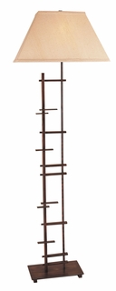 Tf5437 Trend Lighting 1 Light Striations Floor Lamp In Antique Copper (DISCONTINUED PRODUCT)