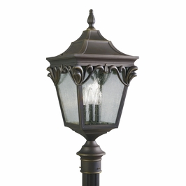 9986rz Kichler Henshaw Outdoor Post Lantern in Rubbed Bronze (DISCONTINUED ITEM!)