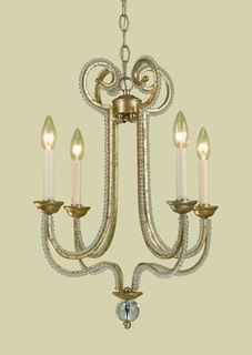 6773-4H-R AF Lighting Candice Olson Chandelier (CLEARANCE ITEM)