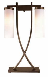 Tt5725 Trend Lighting 2 Light Nu Table Lamp In Aged Brass (DISCONTINUED PRODUCT)