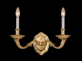 C452-PB Crystorama Lighting Traditional Solid Brass Sconce