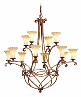 C47-012 Corbett Lighting Nicole Eight Light Chandelier
