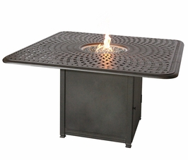 "201060-GHW Darlee 64"" Square Universal Propane Fire Pit Counter Height Patio Table"