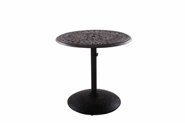 "201060-SJ Darlee 30"" Round Pedestal Dining Patio Table in Cast-Aluminum with a Mocha or Antique Bronze Finish"