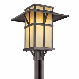 49048AZ Kichler Lodge-Country-Rustic-Garden Booth Bay 1 Light Outdoor Post Mount (DISCONTINUED ITEM!)