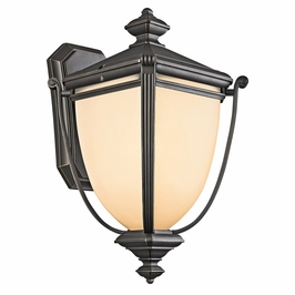 49101RZFL Kichler Rubbed Bronze Outdoor Wall 1Lt Fluorescent Warner Park Outdoor (DISCONTINUED ITEM!)