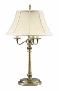N653-AB House of Troy Newport Collection Table Lamp in Antique Brass