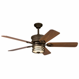 300001AGZ Kichler Aged Bronze 52 Inch Chicago Fan Chicago Fans (DISCONTINUED ITEM!)