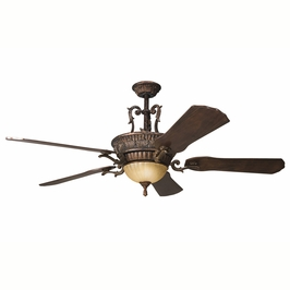 300008BKZ Decorative Fans Traditional 60 Inch Kimberley Fan (berkshire bronze)