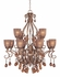 FR49393BME Fredrick Ramond Lighting Monet* Chandelier Display Light