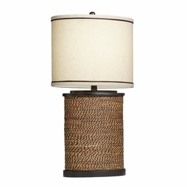 70885 Kichler Westwood Spool Oval 1Lt Portable Table Lamp (DISCONTINUED ITEM!)
