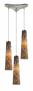 10207/3SS Elk Momentum 3-Light Pendant Sandstorm in Satin Nickel (DISCONTINUED ITEM)