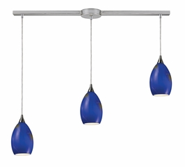 10209/3L-OCN Elk Tranquility 3-Light Linear Oceanic Pendant in Satin Nickel (DISCONTINUED ITEM)