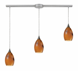 10209/3L-SPC Elk Tranquility 3-Light Linear Spice Pendant in Satin Nickel (DISCONTINUED ITEM)