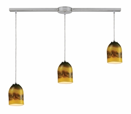 10217/3L-CMT Elk Cosmos 3-Light Linear Comet Pendant in Satin Nickel (DISCONTINUED ITEM)