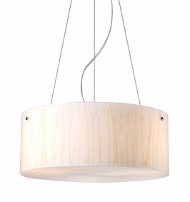 19032/3 Elk Modern Organics-3-Light Pendant in White Sawgrass Material in Polished Chrome (DISCONTINUED ITEM)