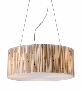 19062/3 Elk Modern Organics-3-Light Pendant in Bamboo Stem Material in Polished Chrome (DISCONTINUED ITEM)