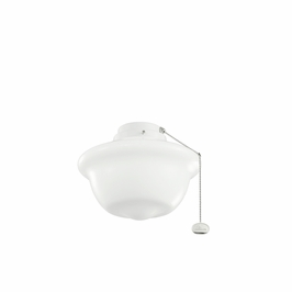 380904WH Kichler Builder 10 Inch School House Outdoor W Fan Light Kits (DISCONTINUED ITEM!)
