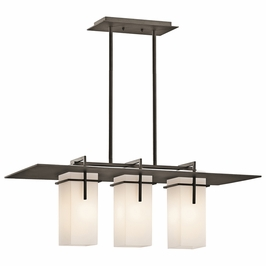 49636OZ Kichler Caterham Outdoor Linear 3Lt Chandelier (DISCONTINUED ITEM!)