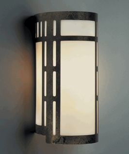 9114 Ultralights Lighting Luz Azul 16-Inch Cylinder Wall Sconce