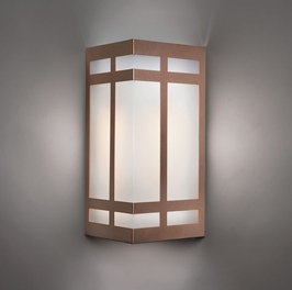 9135 Ultralights Lighting Classics Triangular 14-Inch Wall Sconce with Vertical Bars