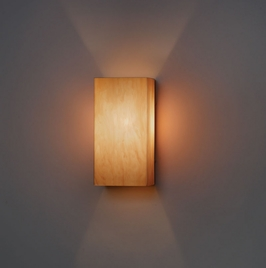 9268 Ultralights Lighting Basics Rectangular Shaped Wall Sconce in All Acrylic