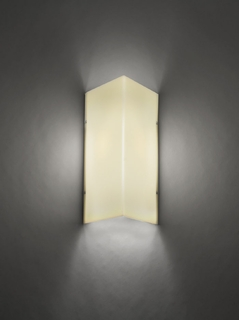 9270 Ultralights Lighting Basics Triangular Shaped Wall Sconce in All Acrylic
