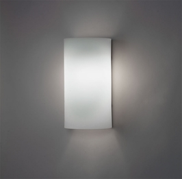 9272 Ultralights Lighting Basics Round Wall Sconce in All Acrylic