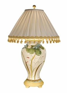 1017 Wildwood Lamps Real Dragonfly Lamp with Handmade and Hand Decorated Tuscan Porcelain