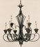 121-9-49 Savoy House Lighting Genoa Nine-Light Chandelier in Brandy