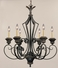 123-6-49 Savoy House Lighting Genoa Six-Light Chandelier in Brandy