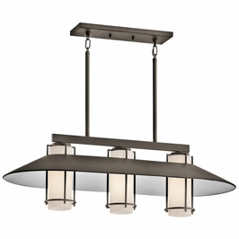 49811OZ Kichler Tavistock Outdoor Linear 3Lt Chandelier (DISCONTINUED ITEM!)