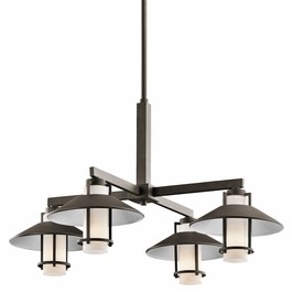 49812OZ Kichler Olde Bronze Outdoor Chandelier 4Lt Tavistock Outdoor (DISCONTINUED ITEM!)