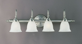 1062-4SN Savoy House Lighting Four-Light Bathroom Wall Sconce Light in Satin Nickel