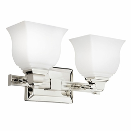 10659PN Kichler Soft Contemporary-Casual Lifestyle Parkview 2 Light Bath (DISCONTINUED ITEM!)