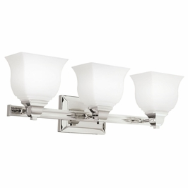 10660PN Kichler Soft Contemporary-Casual Lifestyle Square Curves 3 Light Bath (DISCONTINUED ITEM!)