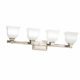10661PN Kichler Soft Contemporary-Casual Lifestyle Square Curves 4 Light Bath (DISCONTINUED ITEM!)