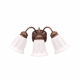 10673TZ Kichler Lighting Wall Mounted Bath Fixture in Tannery Bronze (DISCONTINUED ITEM!)