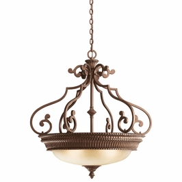 10713TZG Kichler Lighting Larissa Inverted Pendant in Tannery Bronze with Gold Accent (DISCONTINUED ITEM!)