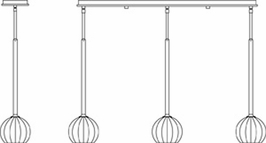 1073 Framburg Lighting Delphine 3 Light Island Chandelier