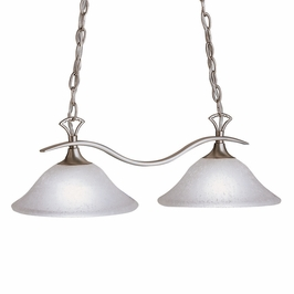 10772NI Kichler Lighting Fluorescent Fixture Group Pool Table-Island Light in Brushed Nickel (DISCONTINUED ITEM!)