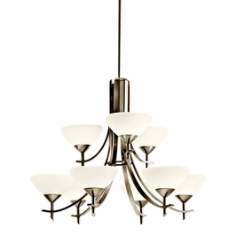 10777AP Kichler Olympia 9Lt Fluorescent Chandelier 2 Tier (DISCONTINUED ITEM!)