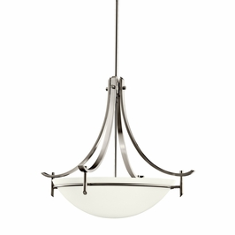 10778AP Kichler Antique Pewter Inverted Pendant 1Lt Fluorescent Olympia Pendants (DISCONTINUED ITEM!)