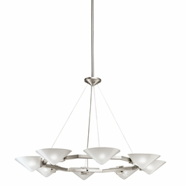 2418NI Kichler Hard Contemporary Reyna 8 Light Chandelier (DISCONTINUED ITEM!)